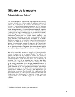 Silbato de la muerte - Instituto Virtual de Investigación Tlapitzcalzin