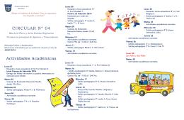 calendario de actividades junio 2015