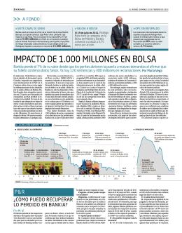 Impacto de 1000 millones en bolsa