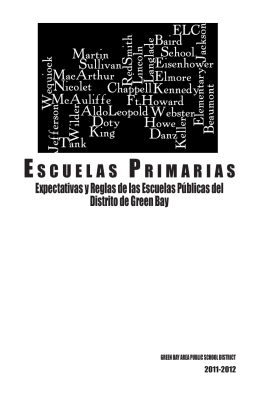 ESCUELAS PRIMARIAS - Green Bay Area Public School District