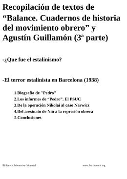 y Agustín Guillamón