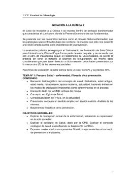 UCV Facultad de Odontología INICIACIÓN A LA CLÍNICA II El curso