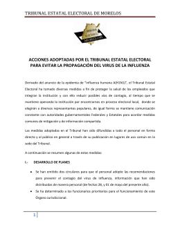 TRIBUNAL ESTATAL ELECTORAL DE MORELOS