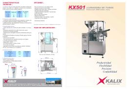 Folleto de Llenadora de tubos KX501