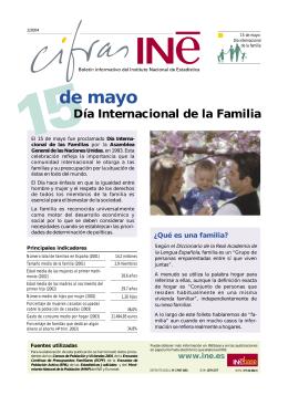 familia - Instituto Nacional de Estadistica.