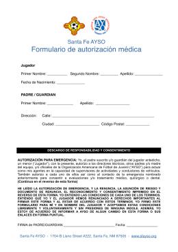 Español - Santa Fe AYSO