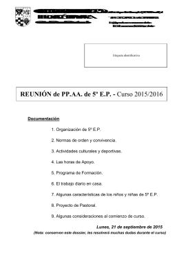 dossier 5º ep 2015 - Colegio Nuestra Señora del Recuerdo