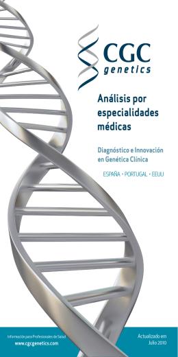 Análisis por especialidades médicas