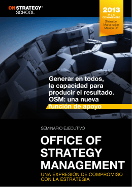 OFFICE OF STRATEGY MANAGEMENT