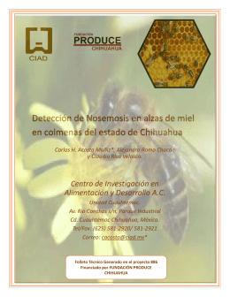 Detección de Nosemosis en alzas de miel en colmenas del