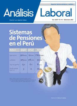 Sistemas de Pensiones en el Perú Sistemas de Pensiones
