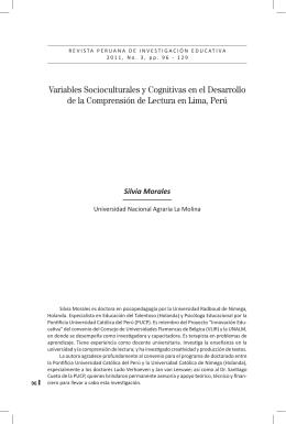Variables Socioculturales y Cognitivas en el Desarrollo de la