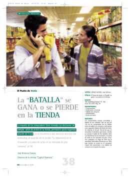 """La """"BATALLA"""" se GANA o se PIERDE en la TIENDA"""