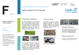 Gestión Integral del Ciclo del Agua