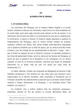 Biblioteca Virtual del Paraguay Pág. 1 Volver al Indice XX ALIANZA