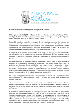 Comunicado de prensa sobre el Día Internacional de la Radiología