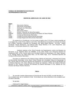 Junio - Consejo de Monumentos Nacionales