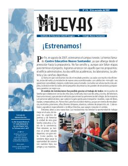 ¡Estrenamos! - Colegio Nuevo Santander