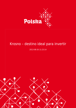 Krosno – destino ideal para invertir