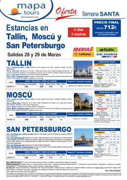01-03-13 Tallin-Moscu-San Petersburgo Estancias Semana Santa