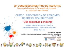 36º CONGRESO ARGENTINO DE PEDIATRIA
