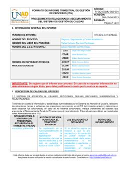 formato de informe trimestral de gestión de procesos (itg)