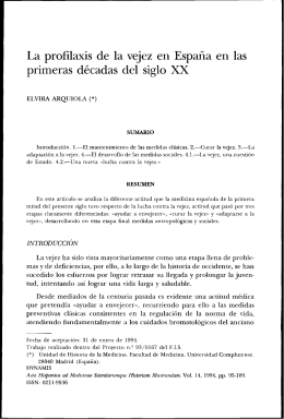 La profilaxis de la vejez en España en las primeras décadas del