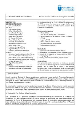 COORDINADORA DE DISTRITO…………