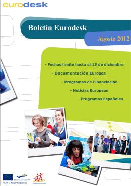 Boletin Eurodesk - Programa Juventud en Acción