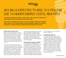 ues bills expected to rise 19.5 percent due to higher energy costs
