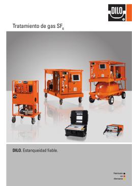 Equipos de manipulación y medida gas SF6 catálogo
