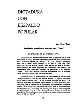 dictadura con respaldo popular - Sala de Estudios Latinoamericano