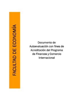 Documento de Autoevaluación con fines de Acreditación del