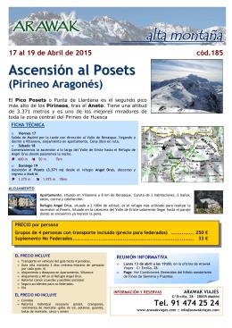 Ascensión al Posets 2015