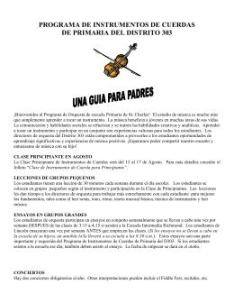 programa de instrumentos de cuerdas de primaria del distrito 303