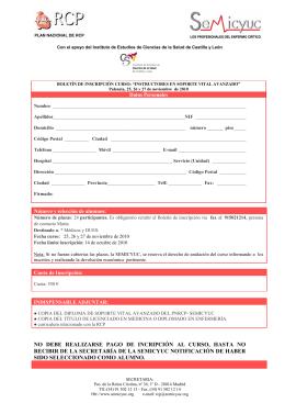 Folleto de Inscripción - Instituto de Estudios de Ciencias de la Salud