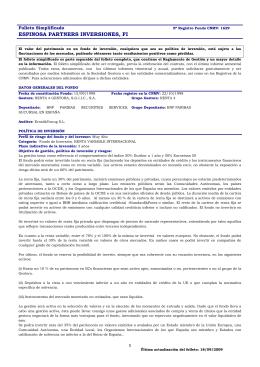 ESPINOSA PARTNERS INVERSIONES, FI
