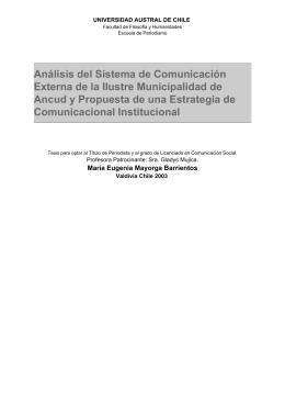 Análisis del Sistema de Comunicación Externa de la Ilustre