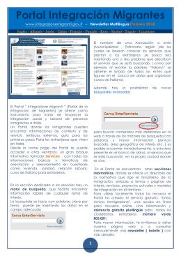 Portal Integración Migrantes
