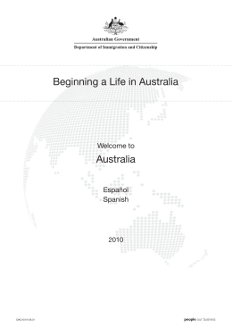 Beginning a Life in Australia Spanish