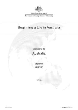 Beginning a Life in Australia Spanish