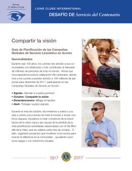 Guía de planificación de la campaña Compartir la visión