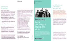 Foresters para conseguir más de la vida