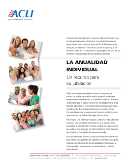 LA ANUALIDAD INDIVIDUAL - The American Council of Life Insurers