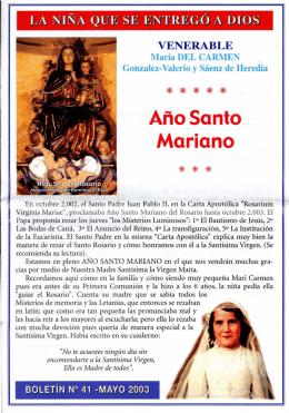 Boletín 41 - La venerable sierva de Dios María del Carmen