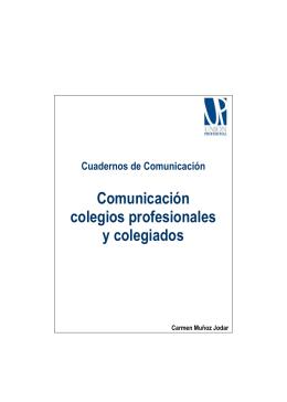Comunicación colegios profesionales y