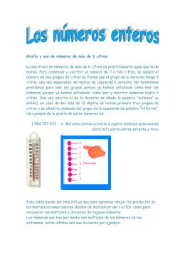 Grafía y uso de números de más de 6 cifras: La escritura