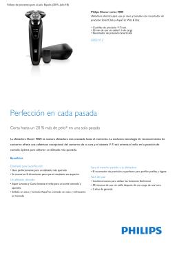 Product Leaflet: afeitadora eléctrica en seco y húmedo