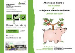 Ahorremos dinero y Geld sparen & Umwelt