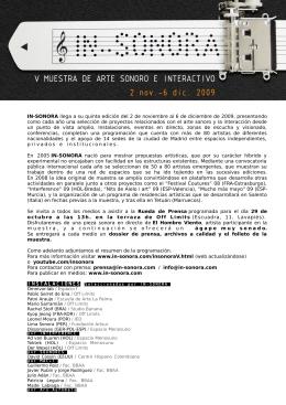 pdf IN-SONORA V - IN-SONORA, muestra de arte sonoro e interactivo